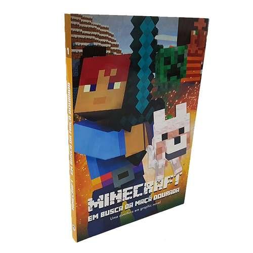Livro Minecraft Em Busca Da Maçã Dourada