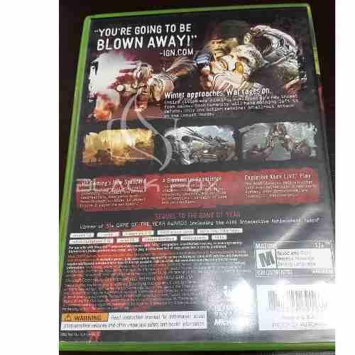 Gears Of Wars 2 Xbox 360 Original Midia Física