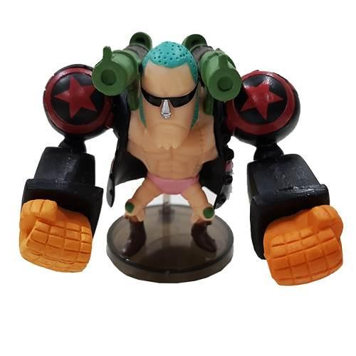 Boneco Franky Ciborgue Action Figure Estátua One Piece Red