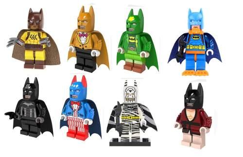 Kit Com 8 Blocos De Montar Batman Dc Decool Compatível