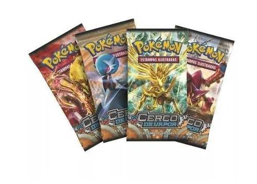 Kit Com 10 Booster Pokemon Xy Cerco De Vapor = 50 Cards