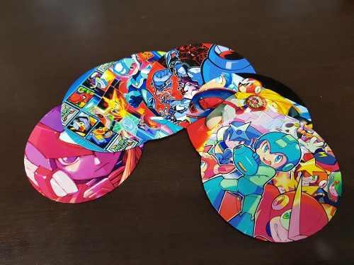 Porta Copo Artesanal Kit Com 6 Bolachas Cd Mega Man