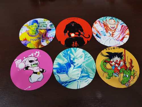 Porta Copo Artesanal Kit 6 Bolachas 12 Cm Dragon Ball