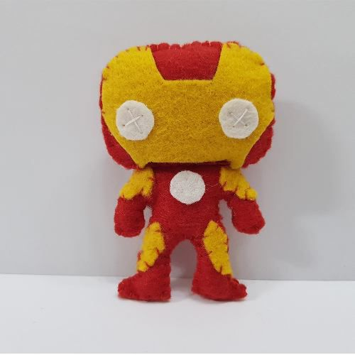 Chaveiro Iron Man Marvel Vingadores Avengers Feltro