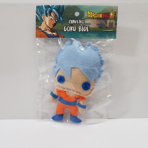 Chaveiro Goku Blue Ssj Dragon Ball Z Super Dbz Feltro