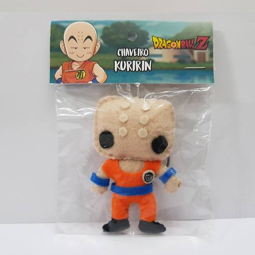 Chaveiro Kuririn Dragon Ball Z Super Dbz Feltro