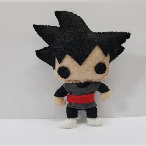 Chaveiro Goku Black Dragon Ball Z Super Dbz Feltro