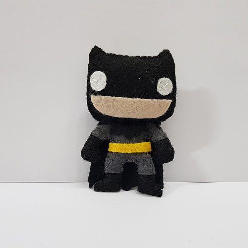Chaveiro Batman Gray Cinza Dc Liga Da Justiça Feltro