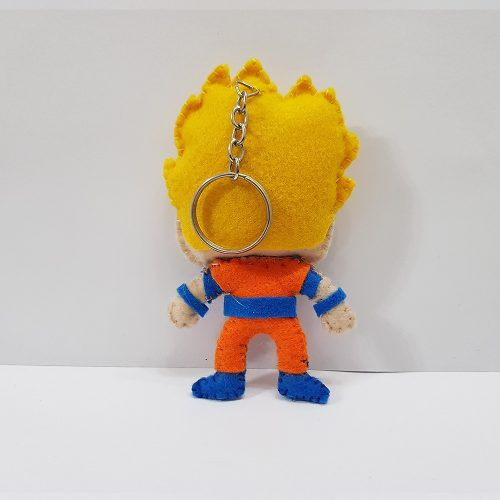 Chaveiro Goku Ssj Dragon Ball Z Super Dbz Feltro