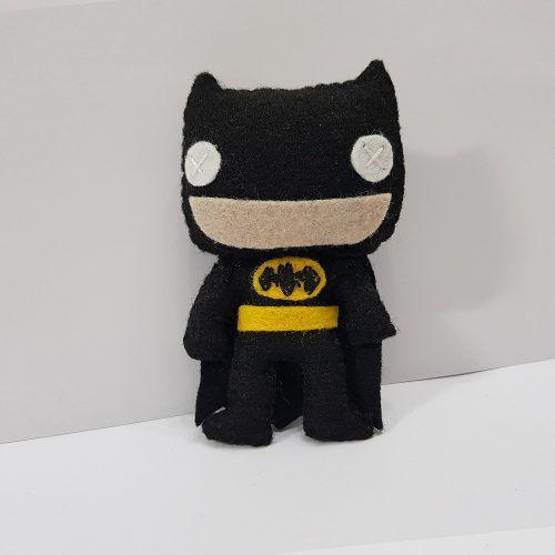 Chaveiro Batman Black Preto Dark Dc Liga Da Justiça Feltro