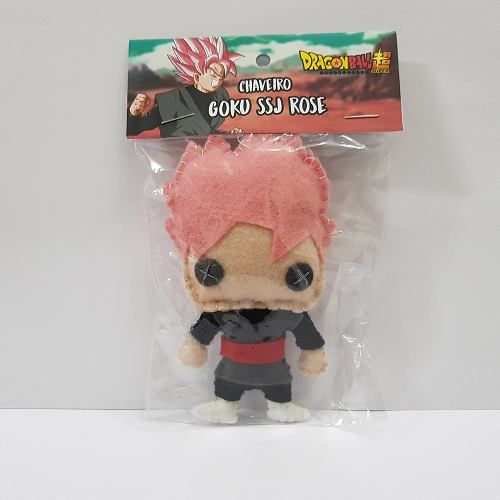 Chaveiro Goku Black Rose Dragon Ball Z Super Dbz Feltro
