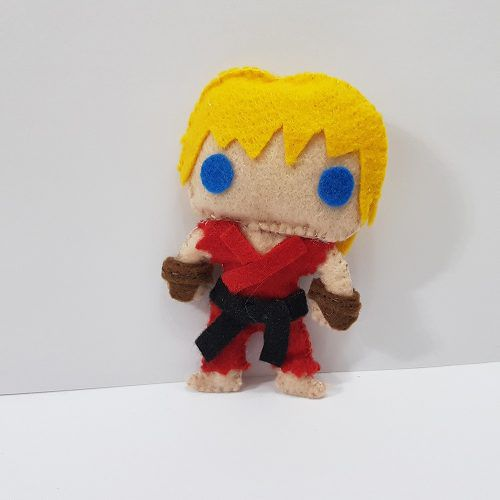 Chaveiro Ken Master Street Fighter Sf Capcom Feltro