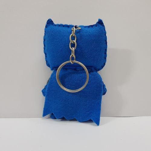 Chaveiro Batman Blue Azul Dc Liga Da Justiça Feltro
