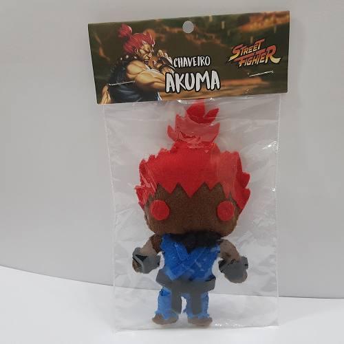 Chaveiro Akuma Street Fighter Sf Capcom Feltro