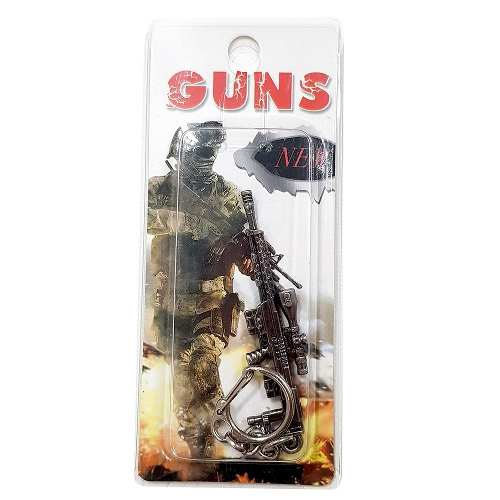 Chaveiro Arma Cross Fire Guns Metal Modelo 05