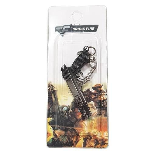 Chaveiro Arma Cross Fire Guns Metal Modelo 09