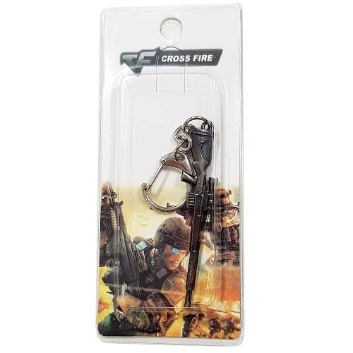 Chaveiro Arma Cross Fire Guns Metal Modelo 10