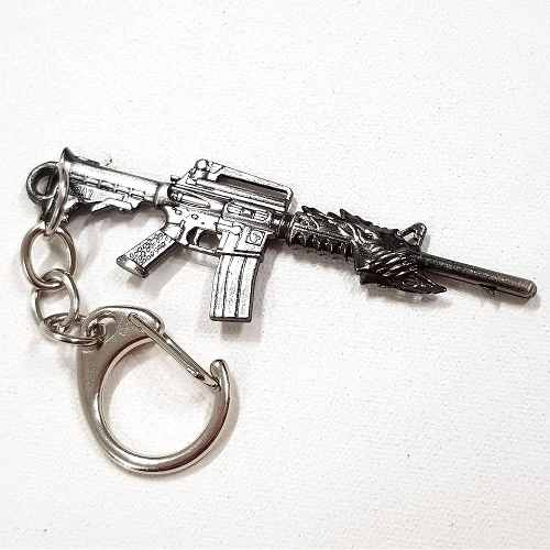 Chaveiro Arma Cross Fire Guns Metal Modelo 19