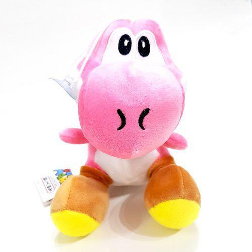 Pelúcia Yoshi Rosa Claro Super Mario