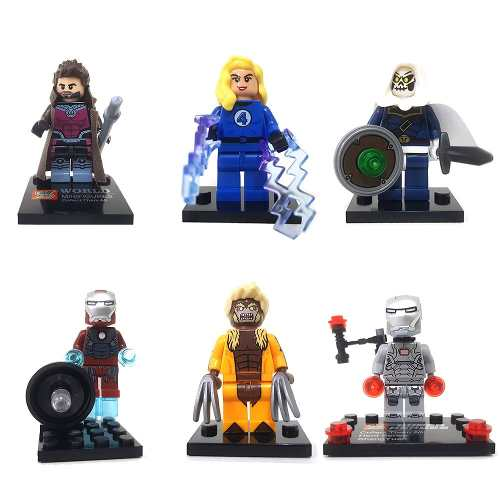 Kit Com 6 Blocos De Montar Marvel Super Heroes