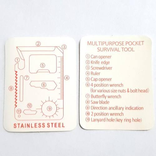 Ferramenta Cartão Sobrevivência Multiuso 11 Em 1