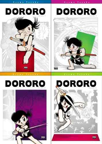 Revista Manga Dororo Kit Com Os 4 Volumes