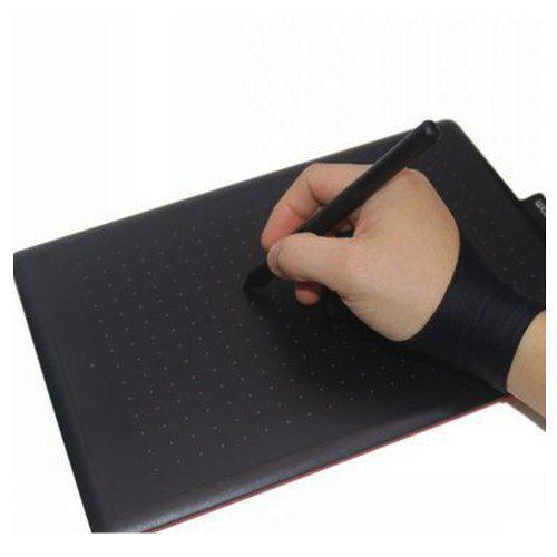 Luva Para Desenho Mesa De Desenho 2 Dedos Glove Anti Sujeira