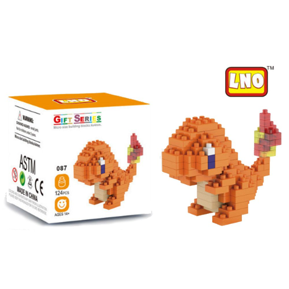 Bloco De Montar Pokemon Charmander Lno Gift Series