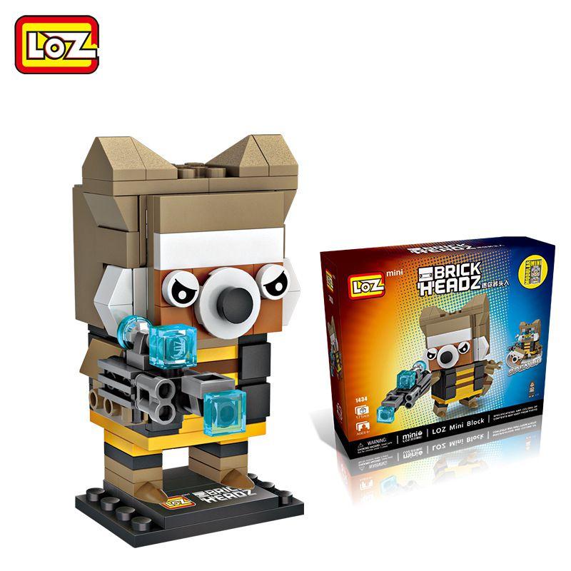 Bloco De Montar Rocket Raccoon Loz Brick Headz