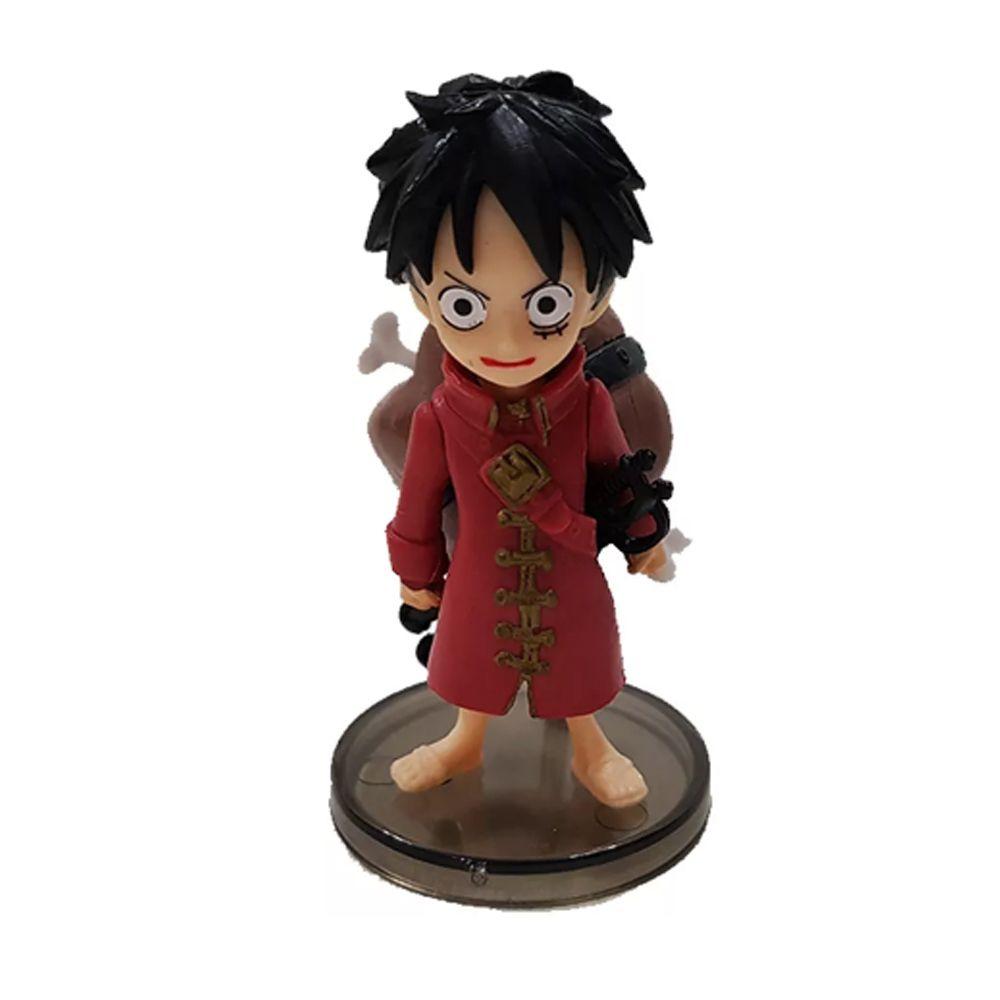 Boneco Luffy Action Figure Estátua One Piece  Red