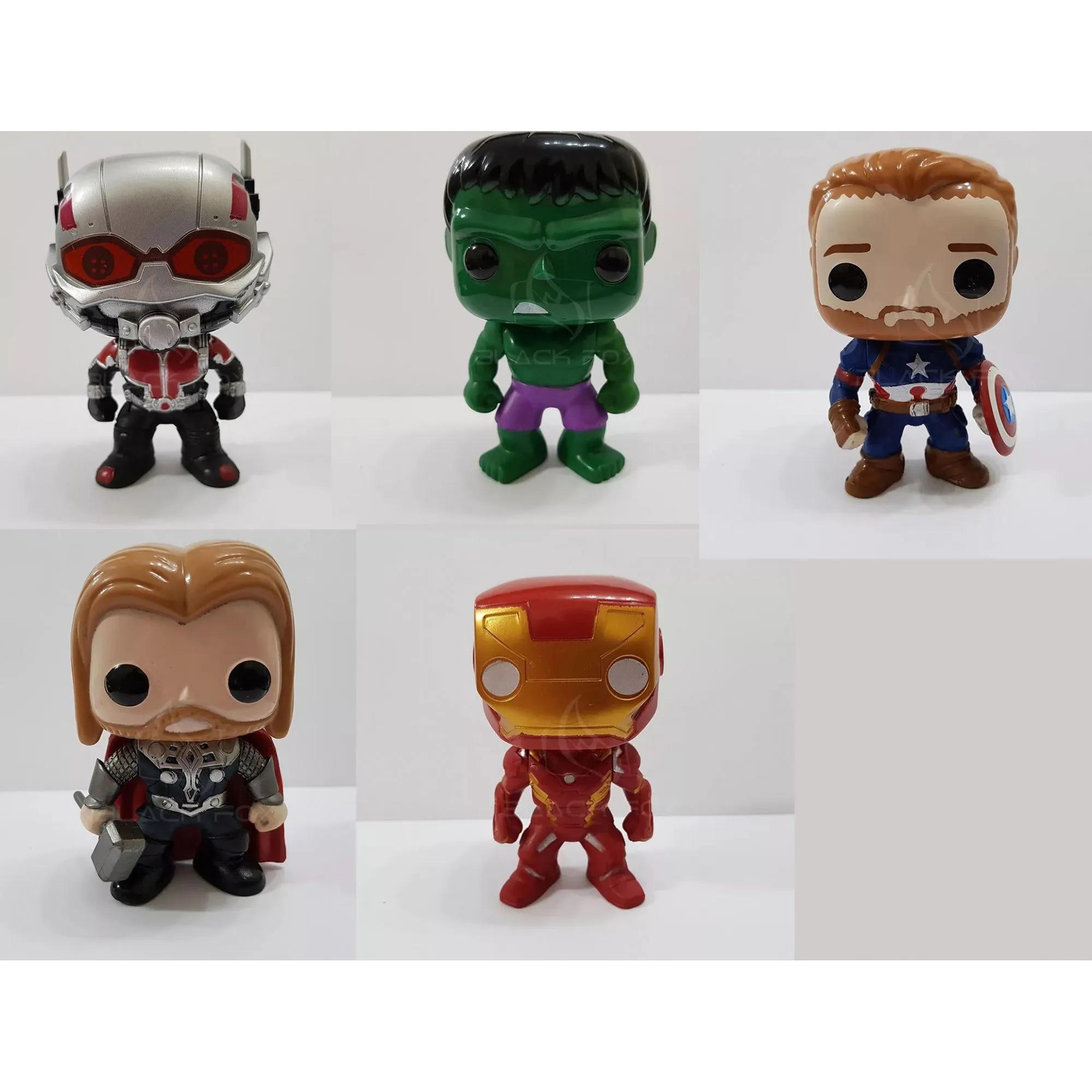 Boneco Vingadores Avengers Marvel Ironman Capitão américa Hulk Antman Thor