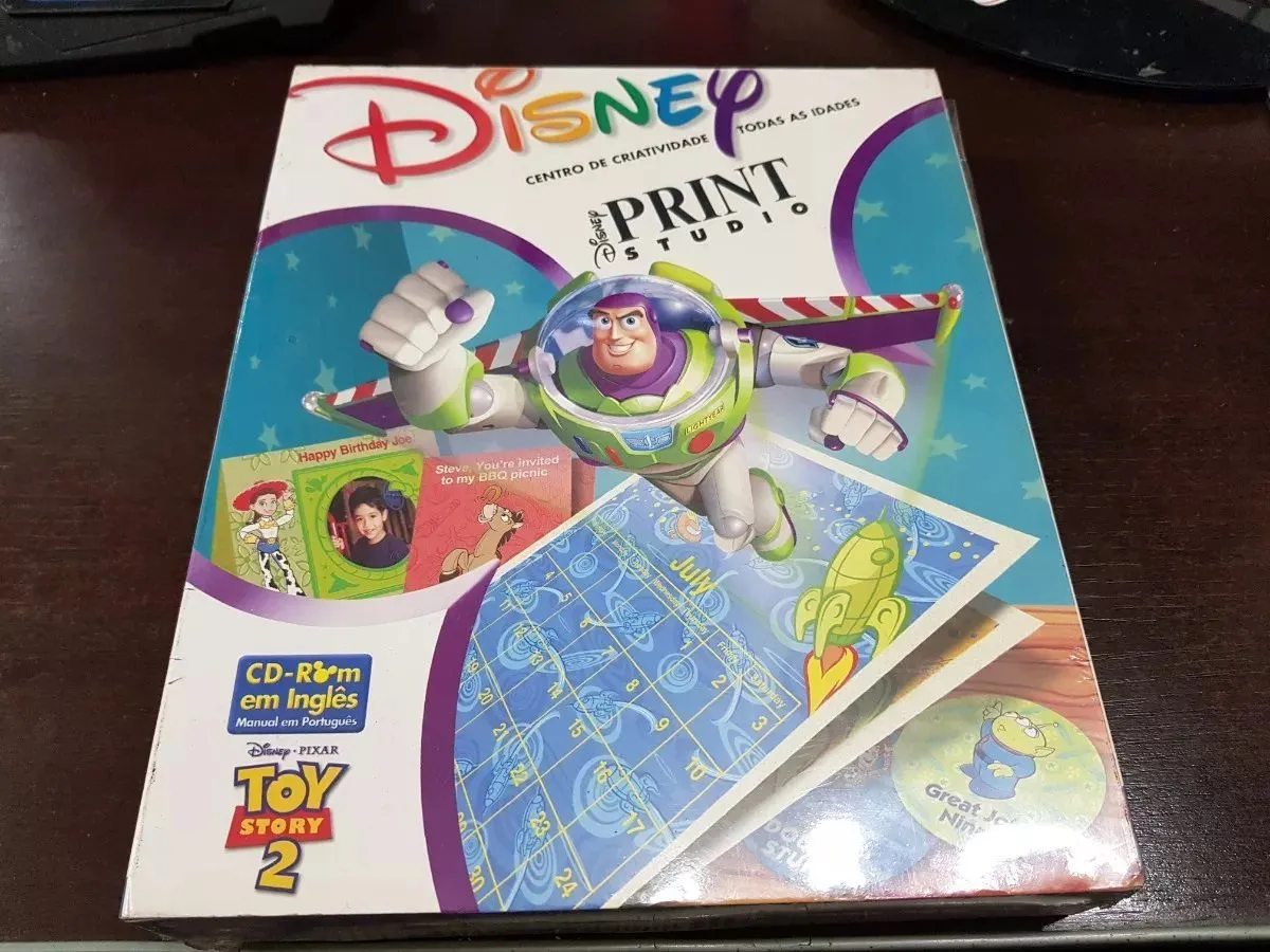 Cd Rom Disney Print Studio Toy Story 2 Pixar