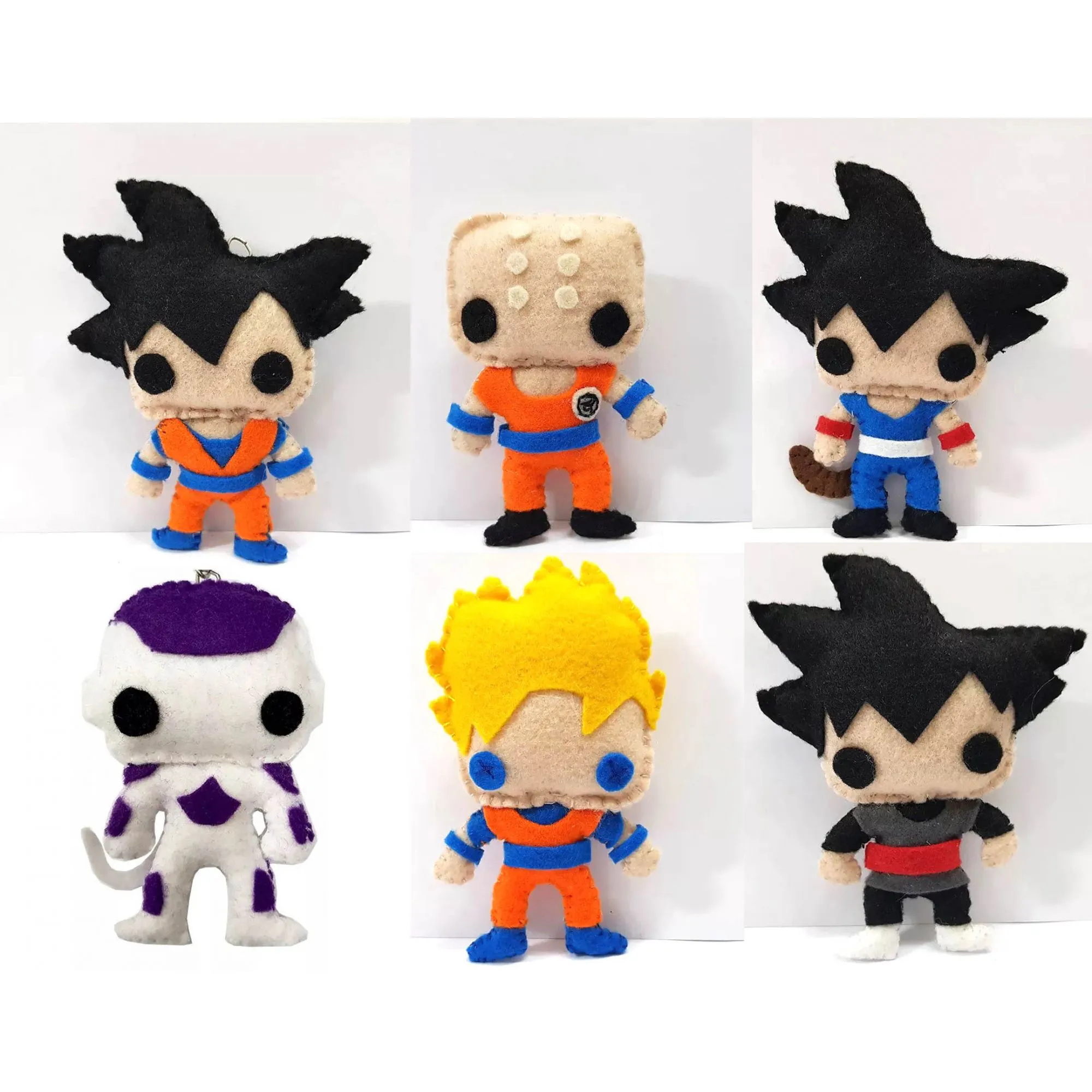 Chaveiro Dragon Ball Z Super Dbz Feltro Kuririn Goku SSJ