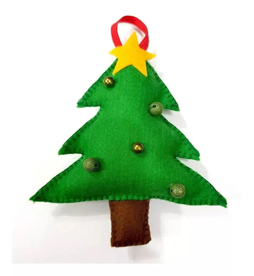 Chaveiro Enfeite Árvore De Natal Feltro Pelúcia