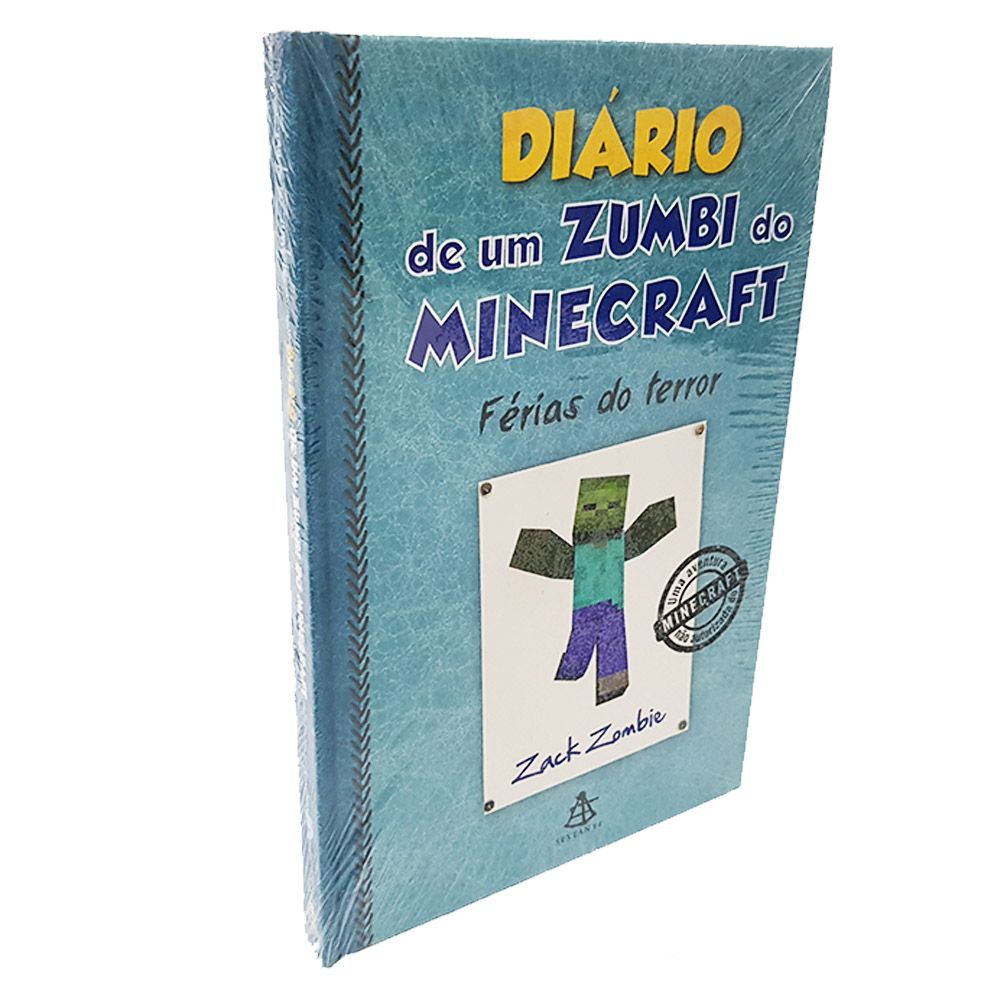 Livro Diário De Um Zumbi Do Minecraft Férias Do Terror