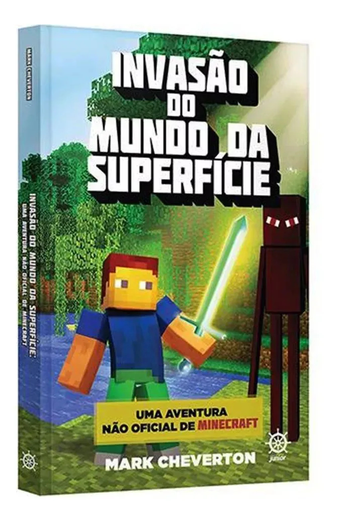 Livro Minecraft Invasão do Mundo Da Superfície Mark Cheverton