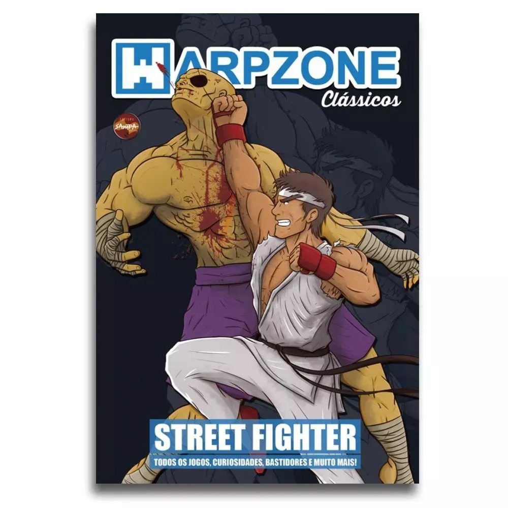 Livro Revista Street Fighter Warpzone Edição Classicos