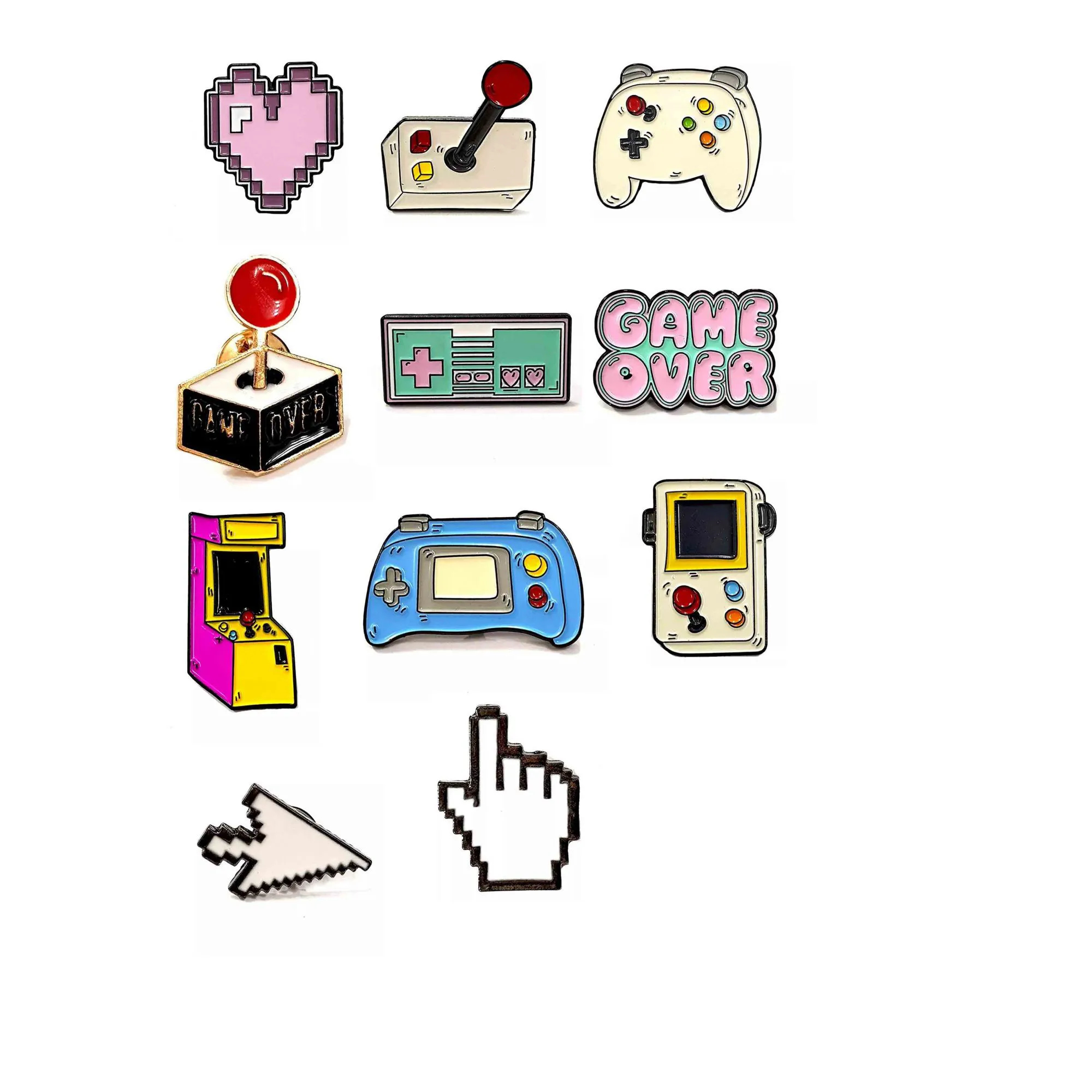 Pin Boton Broche Games Geek Nerd Arcade Jogo Console Pc