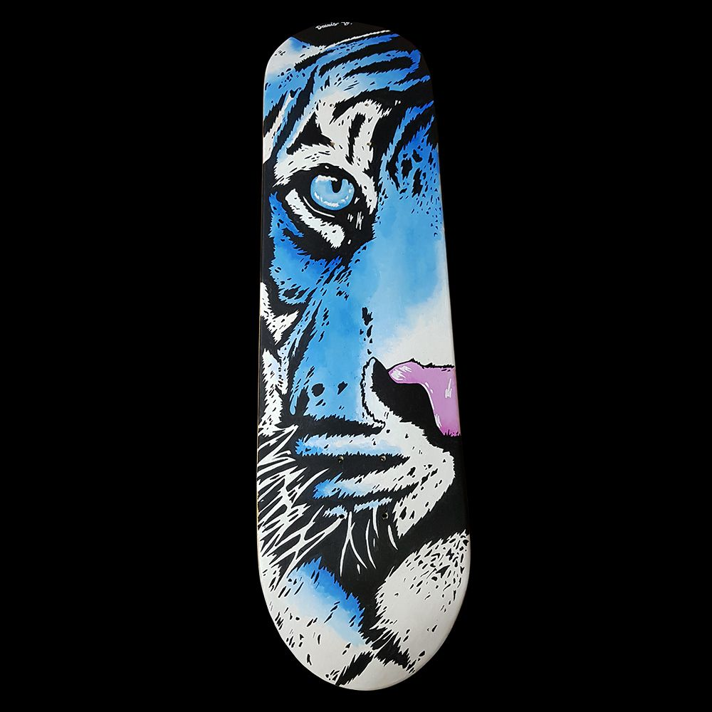 Skate Shape Assinado Blue Tiger - Tigre Azul