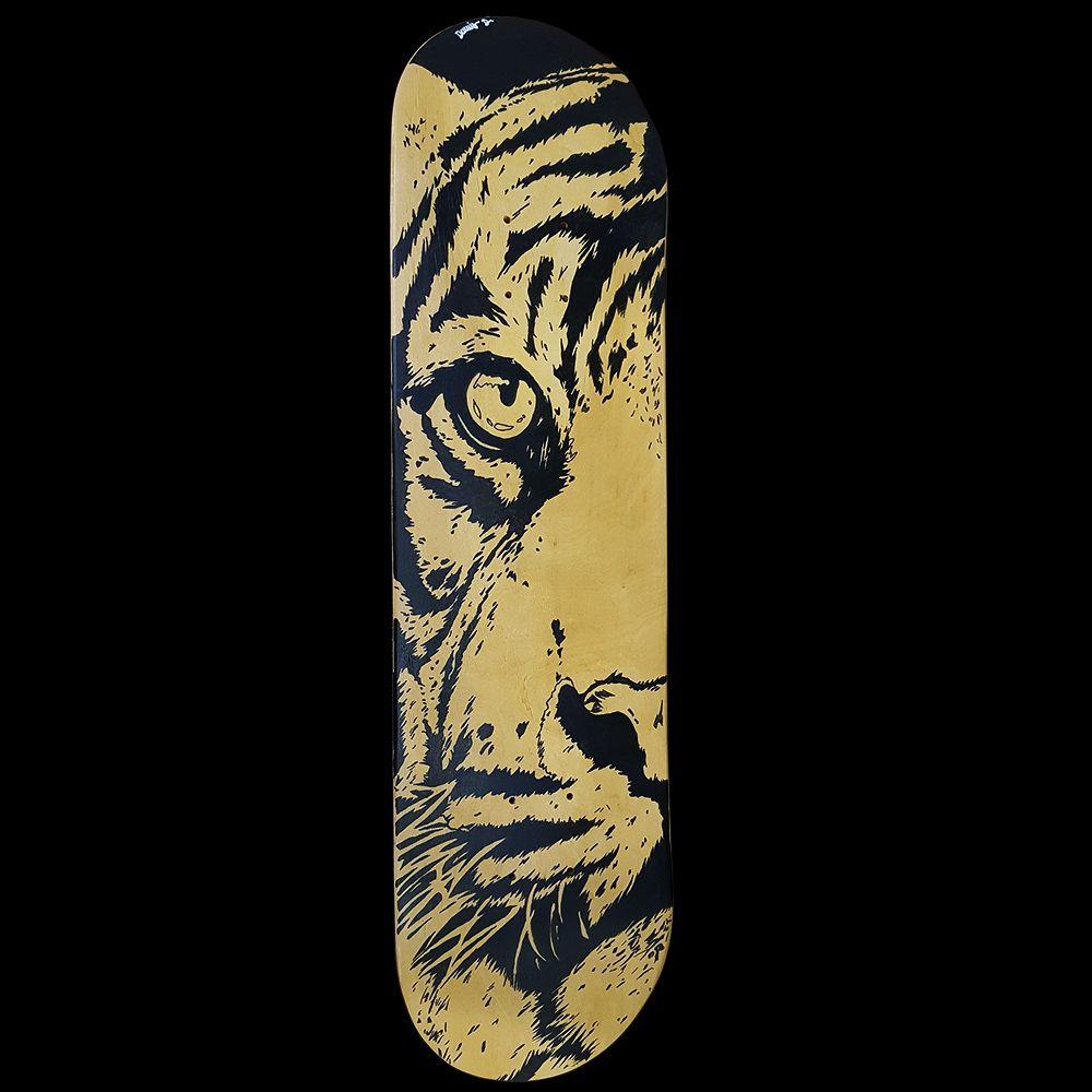 Skate Shape Personalizado Assinado Tigre