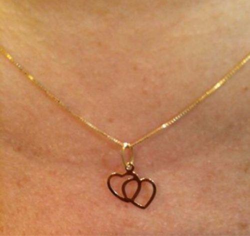 Cordão Corrente Veneziana 45cm Pingente Coração Ouro 18k 750 - DR JOIAS 2b6dff4796