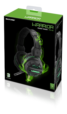 Headphone Gamer Green USB Led Light Verde - Pulse - PH143