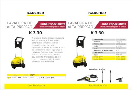 Lavadora de Alta Pressão K 3.30 (220V) Karcher