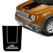 Adesivo Capô Jeep Renegade 2015/19 Montanha Acessório Preto