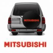 Adesivo Mitsubishi Resinado Pajero TR4 Vermelho Refletivo
