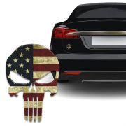 Adesivo Resinado Caveira O Justiceiro Estados Unidos Carro