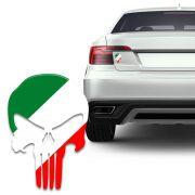 Adesivo Resinado Caveira O Justiceiro Itália Carro Moto
