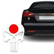 Adesivo Resinado Caveira O Justiceiro Japão Carro Moto