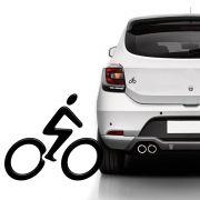 Emblema Universal Bike Ciclismo Adesivo Preto Resinado