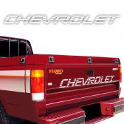 Faixa Traseira Chevrolet D20 Adesivo Branco Modelo Original